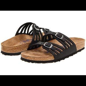 Birkenstock Granada Black Slip on Sandal Sz 39/9